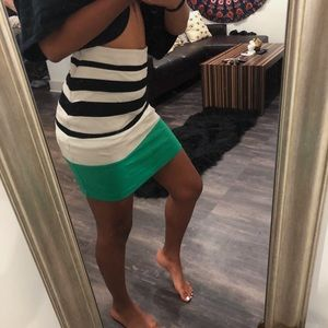 Express Striped Bodycon Skirt